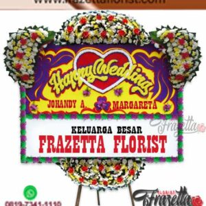 Bunga Papan Happy Wedding Murah Jakarta